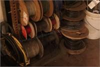 Spools of wire - various gauge (16 spools)