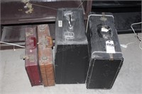 accordion cases & suitcases (4pcs)