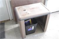 small metal desk