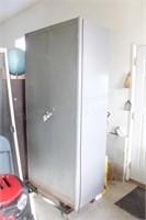 metal shop cabinet w/ storage for shop coats etc
