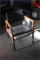 Padded oak desk chair
