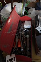 toolbox - line wrenches, sockets, flat ratchet