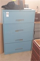 Blue lateral file - 4 drawer