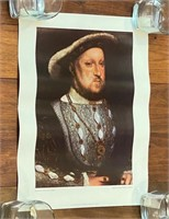 """""""Henry VIII, After Hans Holbein"""" Poster"""