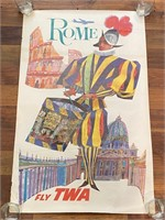 """Rome Fly TWA"" by David Klein Litho in"