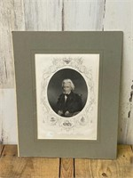 Matted Andrew Jackson Print