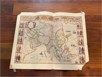 Map of Asia by The Famous Blaeu Family