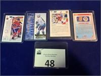 (4) Hockey Cards