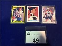 (3) Eric Lindross Hockey Cards