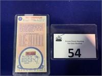 1969 Wilt Chamberlain Basketball Card
