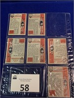 (6) 1950's Topps Basketball Cards