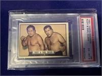1951 Topps Ringside Rudy & Emil Dusek Boxing Card