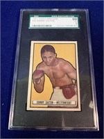 1951 Topps Ringside Johny Saxton Boxing Card