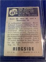 1951 Topps Ringside Bob Murphy Boxing Card
