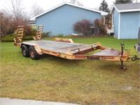 Hudson 16ft tandem axle equipment trailer