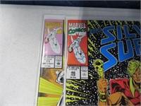 Lot (13) Comic Books Silver Sable Silver Surfer