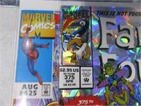 Lot (10) Comic Books Fanstastic Four Spiderman