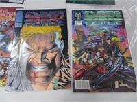 Lot (10) Ccomic Books CyberForce Storm Watch