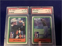 1981 Donruss Bob Gilder & Jim Colbert Golf Cards