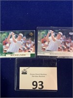 (2) 2002 Phil Mickelson Golf Cards