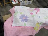 5'x6' Flower Quilt  Blanket