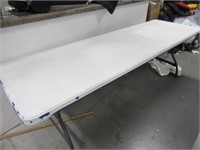 8' Poly Folding Table Sturdy