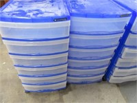 Lot (6) Six-Drawer Nice Poly Storage Tubs w Wheels
