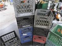 Lot (17) asst Milk Crates