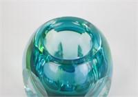 Murano Atrb. Blue and Green Art Glass