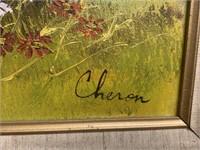 Framed Cheron Painting on Canvas