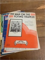 Selection of Vintage Sheet Music