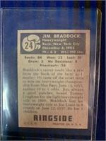 1951 Topps Ringside James J. Braddock Card