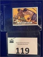 1951 Topps Ringside Ray Robinson vs Marty Servo