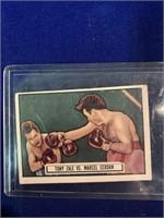 1951 Topps Ringside Tony Zale vs. Marcel Cerdan