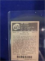 1951 Topps Ringside Joe Louis Card