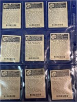(9) 1951 Topps Ringside Boxing Cards in sleeve