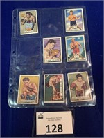 (7) 1951 Topps Ringside Boxing Cards in sleeve