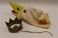 1960 S Garfield Goose Hand Puppet W Crown Wgn Tv Kraft Auction Service