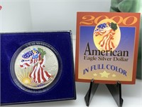 2000 AMERICAN EAGLE SILVER DOLLAR COLORIZED