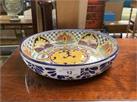 LARGE MEXICAN STYLE POTTERY BOWL
