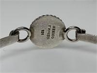 STERLING SILVER DICHROIC GLASS BRACELET