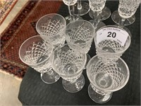 WATERFORD CRYSTAL SET OF 6 GLASSES