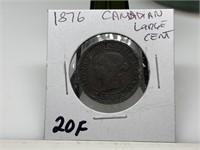 1876 CANADIAN LARGE CENT