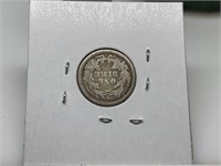 1876 SEATED LIBERTY SILVER DIME COIN