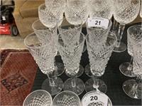 WATERFORD CRYSTAL SET OF 6 GLASSES
