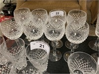 WATERFORD CRYSTAL  SET OF 8 GOBLETS