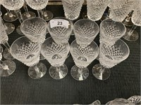 WATERFORD CRYSTAL SET OF 8 GLASSES