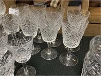 WATERFORD CRYSTAL SET OF 8 GLASSES
