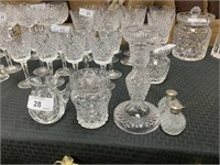 LOT OF MISC CRYSTAL WATERFORD AND MORE