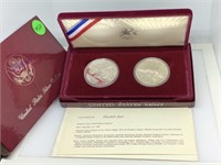 2PC OLYMPICS SILVER DOLLARS IN OGP